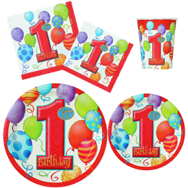 1st Birthday Tableware