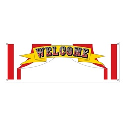 The PartyCheap Circus Sign Banner lets everyone know where the Big Top is!