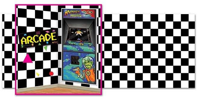 80s arcade backdrops, backgrounds & props