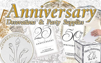 Wedding Anniversary Party Supplies & Decorations