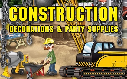 Construction Decorations & Party Supplies