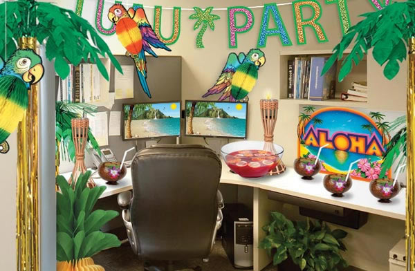 2017 Prom Theme Ideas Luau Office Cubicle