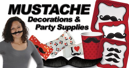 Mustache Party Supplies & Decorations