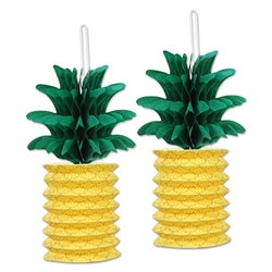 Pineapple Paper Lanterns are great Luau Party Supplies & Decorations