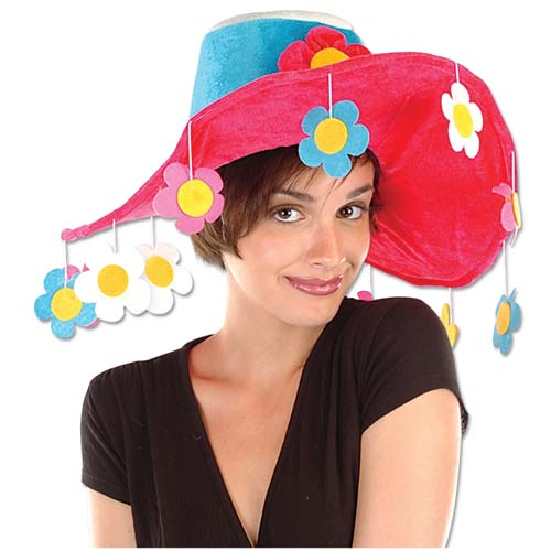 Plush Flower Novelty Hat