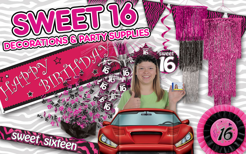 Sweet 16 Party Supplies & Decorations