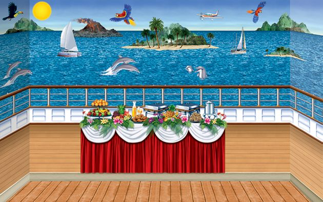 Cruise Ship Bacckdrop Theme