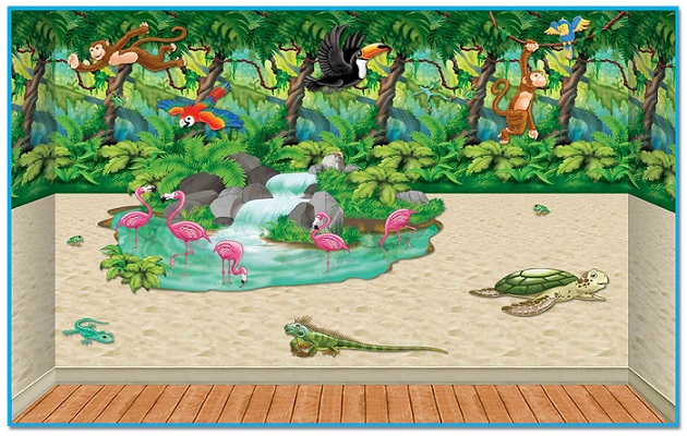 Tropical Island Backdrops, Backgrounds & Props