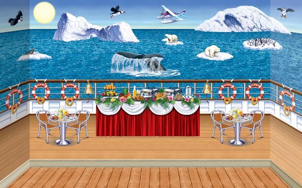 Arctic Cruise Ship InstaTheme Backdrop Backgrounds Amp Props