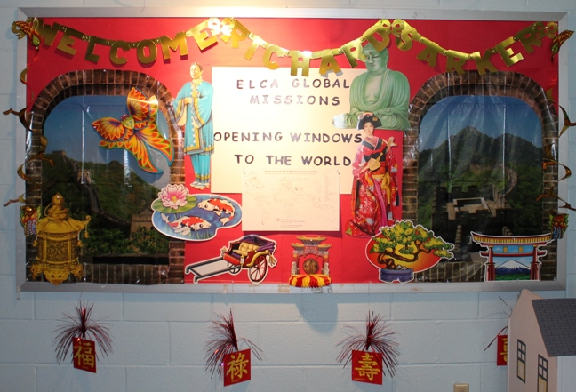 Classroom Bullitien Board Asian Decorations