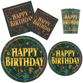 Happy Birthday Tableware