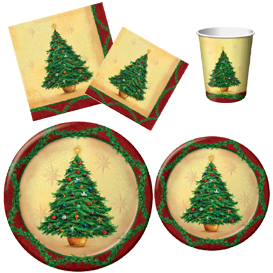 Christmas Tree Tableware Pattern