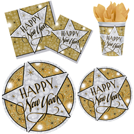 Happy New Years Stars Pattern