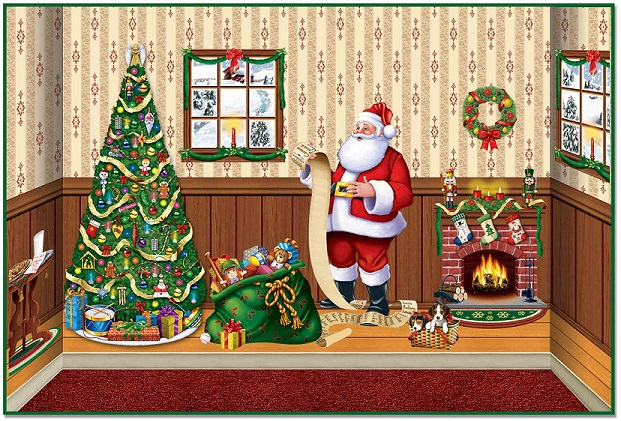 Indoor Christmas Backdrops & Props to help set the holiday mood