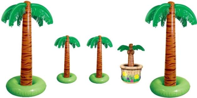 Infatable palm trees