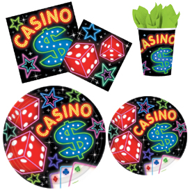 Casino Night Tableware