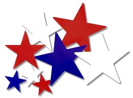 Patriotic Star Cutouts