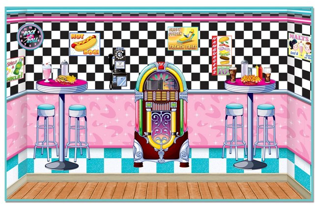 50 39 s soda shop insta theme 50 39 s backdrops props for 50s party decoration