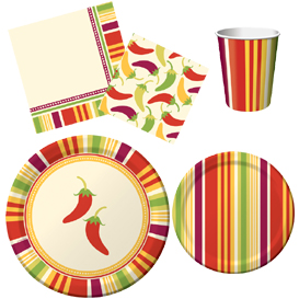 Southwest Chilies Tableware Pattern