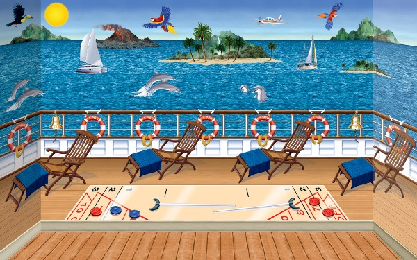 Tropical Cruise Ship Backdrop, Backgrounds & Props