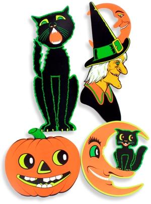 Vintage Beistle Halloween Cutouts