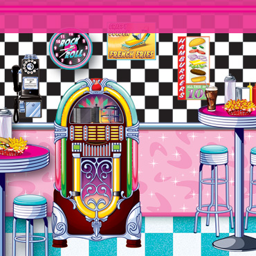 50's Sock Hop Backdrops & Backgrounds