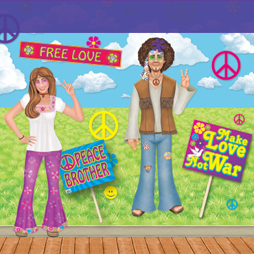 60s Hippie Backdrops, Backgrounds & Props