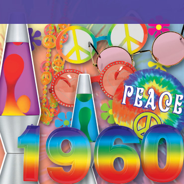 60s hippie theme party supplies decorations partycheap for 60s party decoration