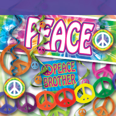 60s Peace Sign Decorations