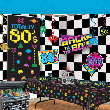 80s arcade party supplies decorations partycheap for 80 s table decoration ideas