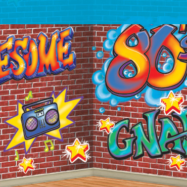 80's Graffiti Backdrop & Backgrounds