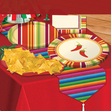 Cinco de Mayo Tableware, Cups, Plates & Napkins