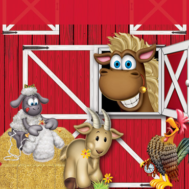 Farm Red Barn Backdrops, Backgrounds & Props