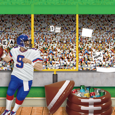 Football Stadium Party Backdrops & Props