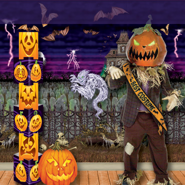 Halloween Party Backdrops, decorations and supplies from PartyCheap help set the perfect decor.