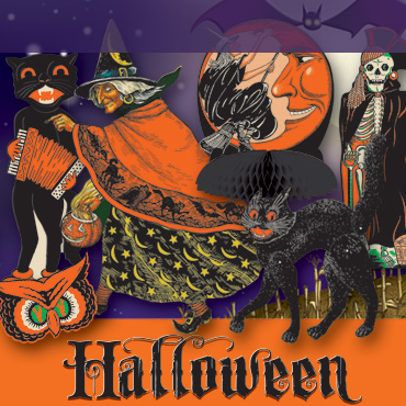Vintage Halloween decorations and supplies, do Halloween old-school!