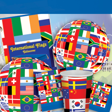 International and world party supplies decorations for International party decor
