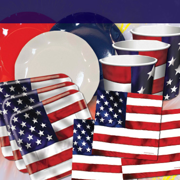 4th of July Tableware, Cups, Plates & Napkins