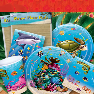 Luau Party Tableware