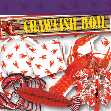 Mardi Gras Crawfish Decorations