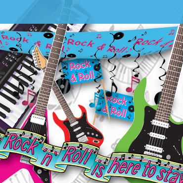 Music theme party decorations supplies partycheap - Rock and roll theme party decorations ...