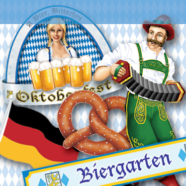Oktoberfest Cutouts from PartyCheap on your wall get everyone in the Oktoberfest mood.