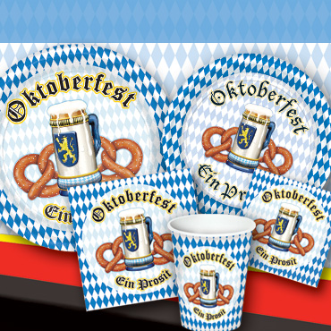 Oktoberfest themed Tableware, Cups & Plates
