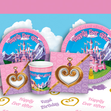Princess Tableware, Cups Plats Napkins
