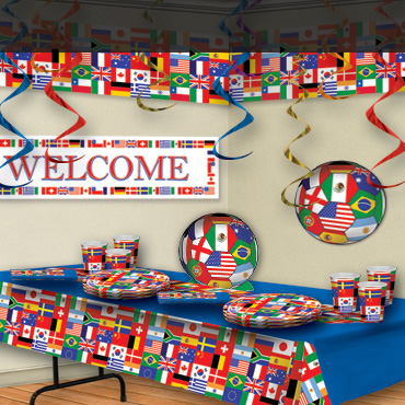 Soccer party supplies decorations partycheap partycheap for International party decor
