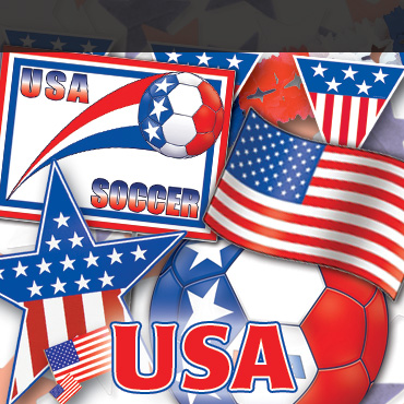 USA Soccer Decorations