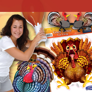 Thanksgiving Turkey Decorations & Party Supplies