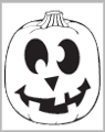 Happy Jack-O-Lantern carving pattern from PartyCheap