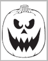 Angry Jack-O-Lantern carving pattern from PartyCheap