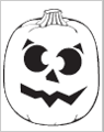 Confused Jack-O-Lantern carving pattern from PartyCheap